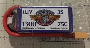 AirDogs 3S 1300 75C LiPo Battery