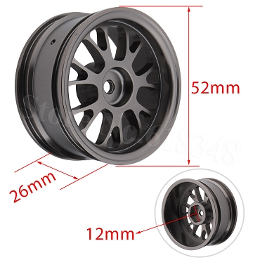 LRC 14 Spoke Aluminum Gun Metal Wheels