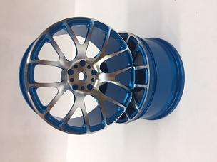 LRC 14 Spoke Aluminum Blue Wheels