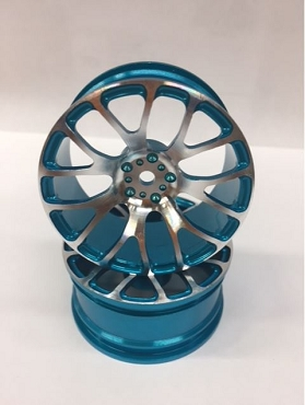 LRC 14 Spoke Aluminum Light Blue Wheels
