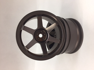 LRC 6 Spoke Aluminum Gun Metal Wheels