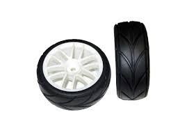 White Road Wheels and Tires - 2pcs