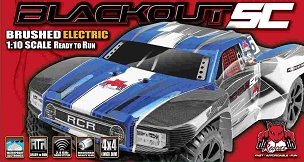 BLACKOUT SC SHORT COURSE TRUCK 1/10 SCALE ELECTRIC - Blue