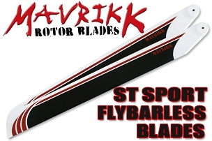 Mavrikk 550mm ST Sport Flybarless Main Blades (White)