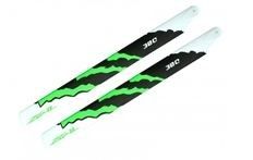 ZEAL Carbon Fiber Main Blades 380mm Energy (Green) for Goblin 380