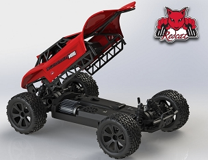 BLACKOUT XBE PRO BUGGY 1/10 SCALE BRUSHLESS ELECTRIC Red