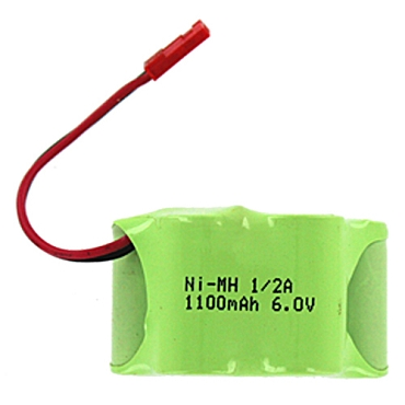 5-cell 1100Mah Ni-Mh 6v Receiver Battery