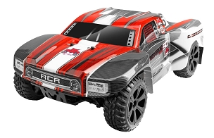 BLACKOUT SC SHORT COURSE TRUCK 1/10 SCALE ELECTRIC - Red