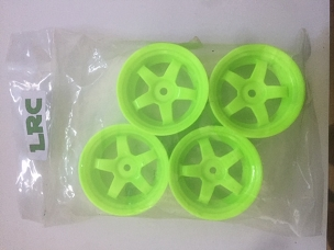 LRC 5 Spoke Green Plastic Wheels