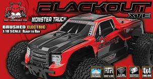 BLACKOUT XTE TRUCK 1/10 SCALE ELECTRIC - Red