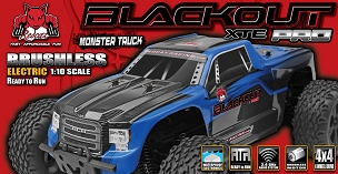 BLACKOUT XTE PRO TRUCK 1/10 SCALE BRUSHLESS ELECTRIC - Blue