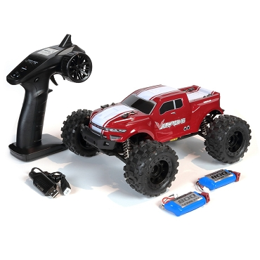 VOLCANO-16 1/16 SCALE BRUSHED ELECTRIC MONSTER TRUCK Red